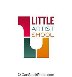 Sign for children art school