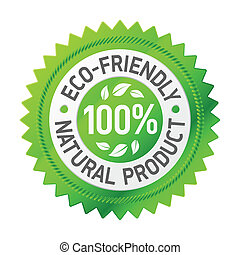 Vector illustration of a sign of eco-friendly product
