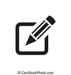 Sign up icon on white background.