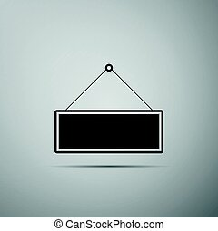 Signboard flat icon on grey background. Vector Illustration