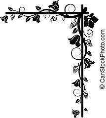 silhouette of the floral corner