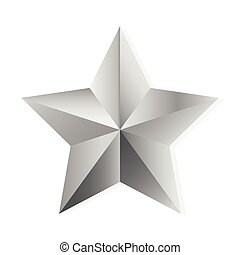 Silver star vector isolated object