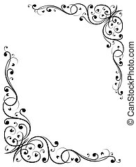vector abstract floral grunge B