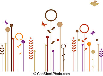 abstract floral design, vector