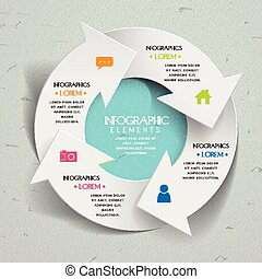simplicity infographic template design with arrow elements