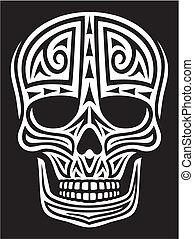 skull ornament (skull tattoo)