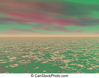 sky red and green