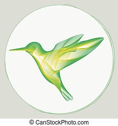 small bird stylized sign