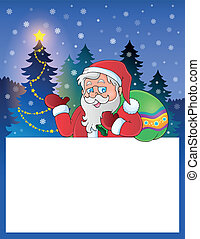 Small frame with Santa Claus 1