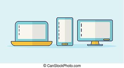 smartphone computer laptop