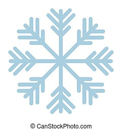 snowflake of color blue with white background