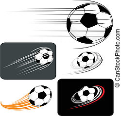 set of soccer balls, in vector format individual objects