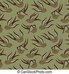 Songbird Seamless Pattern
