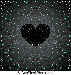 Space black heart.