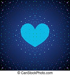 Space blue heart.