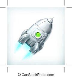 Spacecraft vector icon