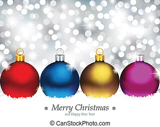 Sparkling Background with Christmas