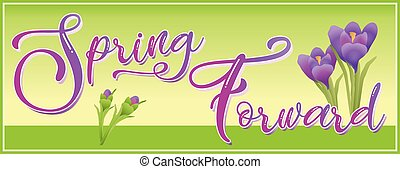 Spring Forward Daylight Savings Time Graphic