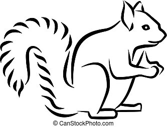 Squirrel caligraphy style