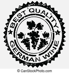 Stamp for German wine