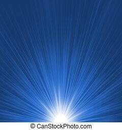 Star burst blue and white flare. EPS 8