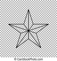 Star icon isolated on transparent background. Vector illustration
