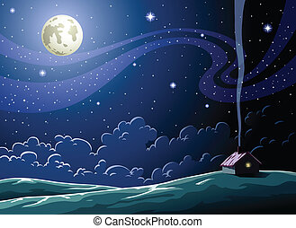 Starry Night in the village
