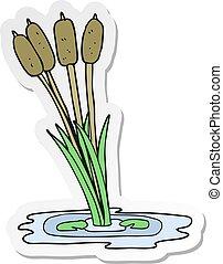 sticker of a cartoon reeds