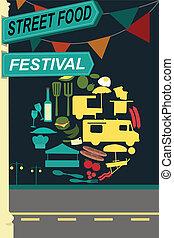 Street food festival pamphlet