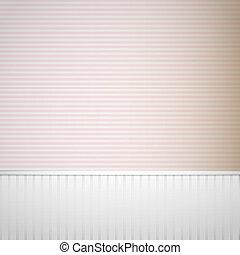 Stripe room interior