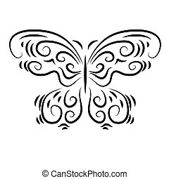 Stylized decorative beautiful a ornamental butterfly