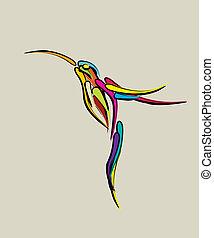 Stylized humming bird