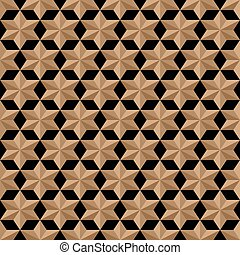 Stylized stars seamless pattern in arabic style