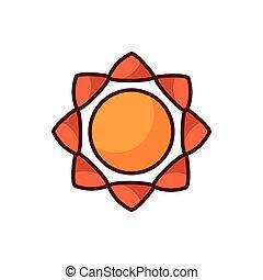 sun summer line color style icon
