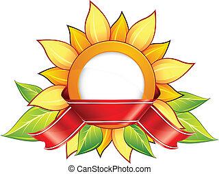 sunflower & ribbon