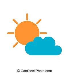 sunny cloud sun weather