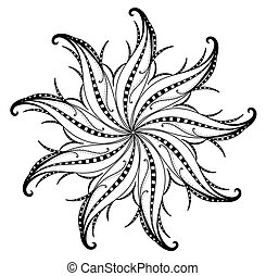 Swirl Flourish Element Design