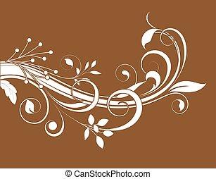 Swirl Flourish Element Vector
