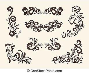 Swirly line curl patterns