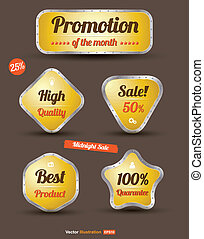 tag iron yellow promotion sale