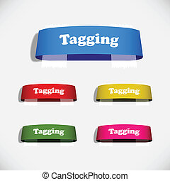 Tag Sticker Label Plaster Shadow