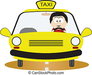 Taxi Driver. Vector illustration for you design