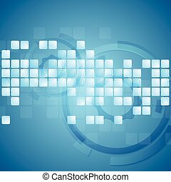 Tech abstract vector background
