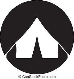 Tent icon, Vector illustration