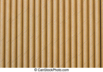 Texture of side by side paper straws