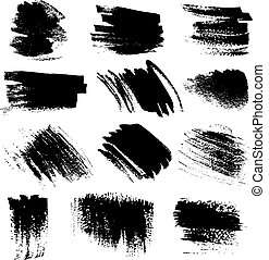 Textured brush strokes drawn a flat brush and ink set1
