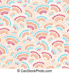 Textured geometric doodle seamless pattern background