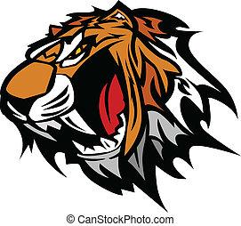Tiger Head Graphic Team Mascot Image