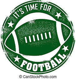 Time for Football Stamp