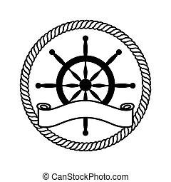 timon boat isolated icon vector illustration design